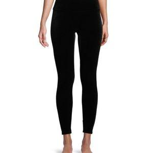 Spanx Small velvet black leggings- new